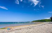 Sea pebble beach in Bretagne, — Stock Photo