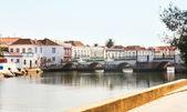 Antique bridge in Tavira, Portugal — Stock Photo