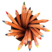 Colored pencils with white background — Stock Photo