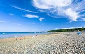 Sea pebble beach in Brittany — Stock Photo