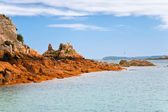 Havets kust i bretagne — Stockfoto