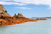 побережье моря в бретани — Стоковое фото