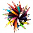 Stock Photo: Many colored pencils