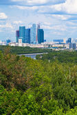 Panorama över nya moscow city — Stockfoto