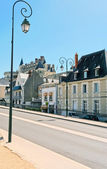 Urban road in medieval town Amboise — Stock Photo