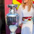 Henri Delaunay Trophy of UEFA Championship — Stock Photo