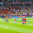 Final football game of UEFA EURO 2012 — Stock Photo #11796107