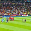 Final football game of UEFA EURO 2012 — Stock Photo #11796109