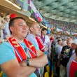Football fans on final game of UEFA EURO 2012 in Kiev, — Stock Photo #11796114
