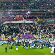 Final football game of UEFA EURO 2012 — Stock Photo