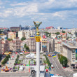 Independence Square - central square of Kiev, Ukraine - Stock Photo