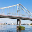 Bridge through Dnieper River - Stock Photo