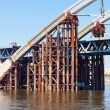 Stock Photo: Metal bridge on Dnieper River