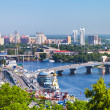 Kiev cityscape and Dnieper river - Stock Photo