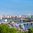 Stock Photo: Kiev cityscape and Dnieper river