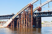 金属第聂伯河河上的桥 — 图库照片