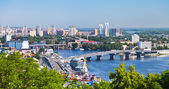 Kiev cityscape and Dnieper river — Stock Photo