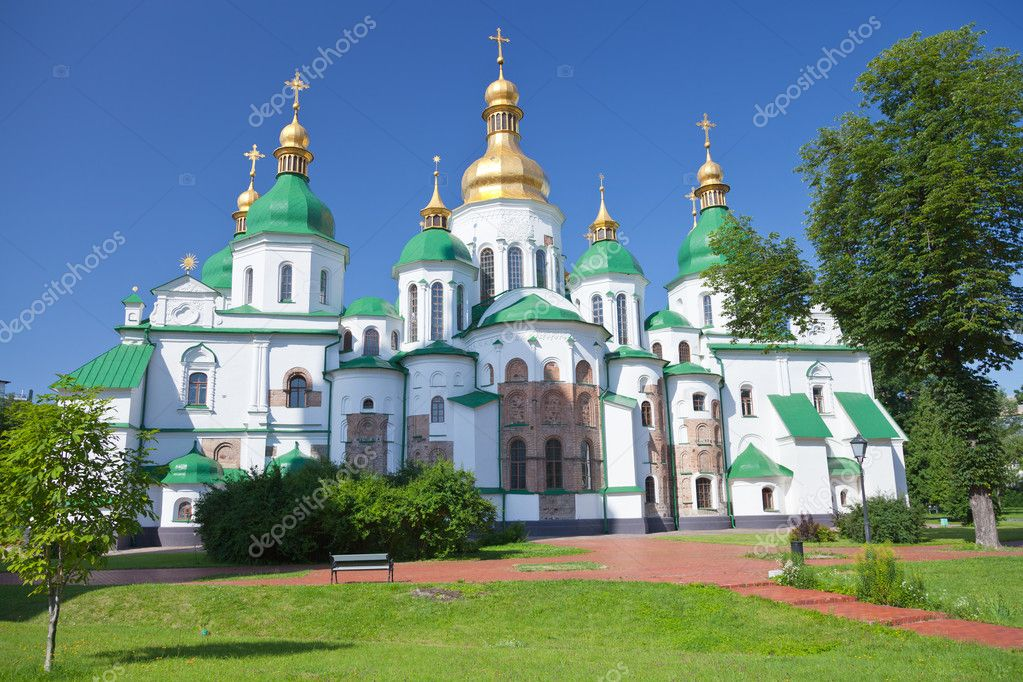 Saint Sophia Cathedral in Kiev, Ukraine in summer day  Stock Photo #11796423