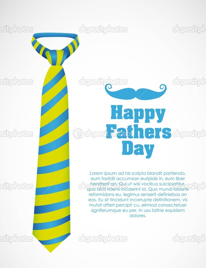 Happy Father's Day, holiday card with tie — Stock Vector #10744849