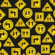 Pattern of traffic signs — Vector de stock #10914658