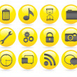 Bubbles icons gel — Foto de Stock
