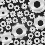Silver gear pattern — Stock Photo