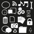 Stock Photo: Set of silhouettes icon