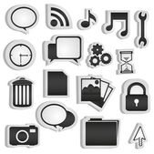 Set of silhouettes icon — Stock Photo