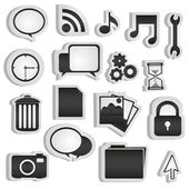 Set of silhouettes of icons — Foto de Stock