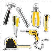 Label of tools — Stock Photo