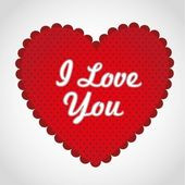 Red heart with dots — Stock Photo