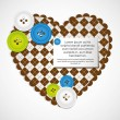 Heart with clothing buttons — Vector de stock #11153874