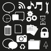 Set of silhouettes icon — Stock Vector