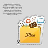 File folder icon — Stock Vector