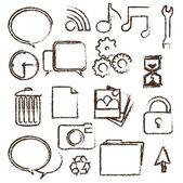 Grunge pictogrammenset — Stockvector