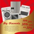 Flyer discount appliances — Vector de stock #11249424