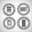 Set of Appliances - Stock Vector