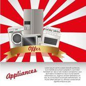 Set of Appliances — Stock Vector
