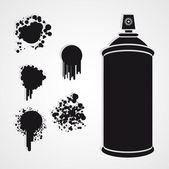 Silhouette spray bottle — Stock Vector