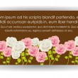 Card with colorful roses — Vector de stock #11367546