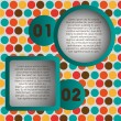 Numbering in colored squares and circles — Stock Vector #11475386