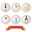 Icon set of liquor — Stock Vector