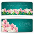 Card with colorful roses — Stockvectorbeeld