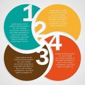 Nummering in de gekleurde cirkels — Stockvector