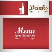 Élégante carte pour menu de vins — Vecteur