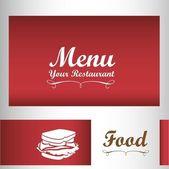 Élégante carte de menu de restaurant — Vecteur