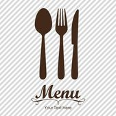 Elegant card for restaurant menu — Vecteur