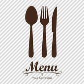 Zarif restoran menü kartı — Stok Vektör