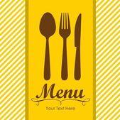 Elegant card for restaurant menu — Stock Vector