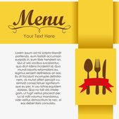 Elegant card for restaurant menu — Vettoriale Stock